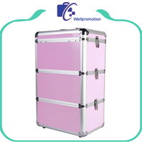 Professional Beauty Makeup Cosmetic Case On Wheels