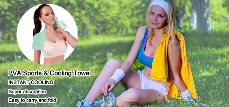 best water and sweat absorbing pva chamois cooling towel for sports