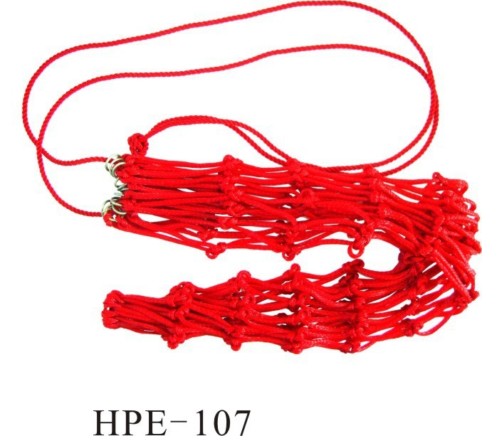 horse equipment PE red hay net with rings