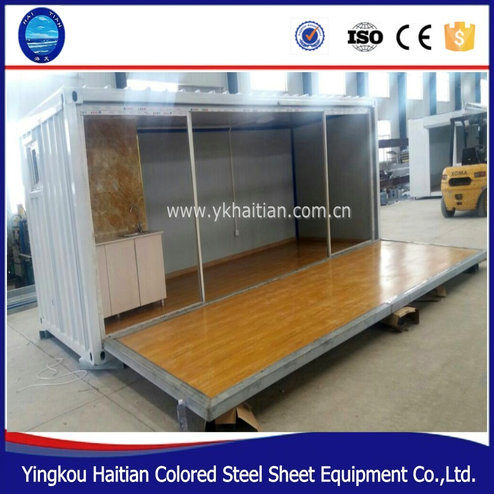 low cost cheap prefab steel structure glass luxury 20ft shipping container homes for sale