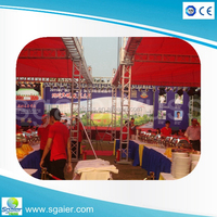 New exhibition concert entertainment aluminum stage curved truss aluminum roof truss
