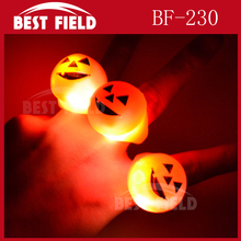 Pumpkin flashing Halloween led Jelly ring
