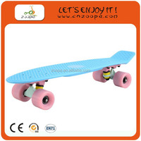 Classic 4 Big Wheels Complete Plastic Skateboard