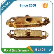 Lock Type wholesale mini gold metal wooden box latch