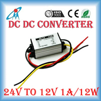 24V drop to 12V 1A 2A 3A 5A DC DC waterproof converter moistureproof quakeproof power supply Plastic case charger in car