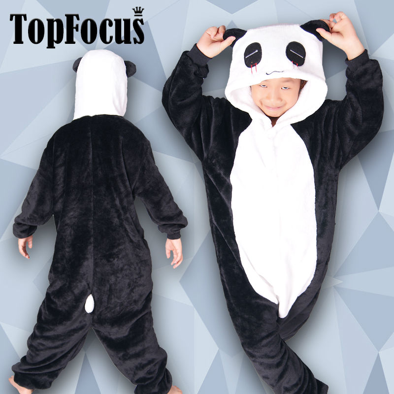 Hot Selling Wholesale Children Pajamas Panda Animal Onesie