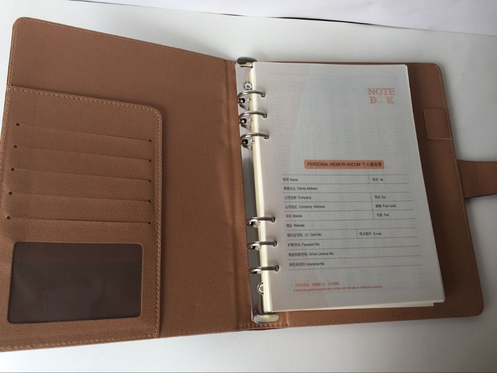 2016 New Coming PU Leather Notebook, loose -leaf notebook supplier, cheap price, high quality