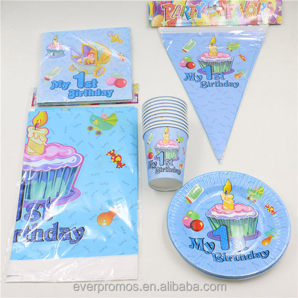 Wholesale 2016 Birthday Party Decorations Supplies Kids Birthday Sets