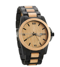 quartz wood and steel watches bezel japan movt, mens wristwatch, metal and wooden watch From Allibaba.com