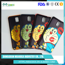 Cheap cute Doraemon cartoon TPU mobile phone case for Samsung Note 3