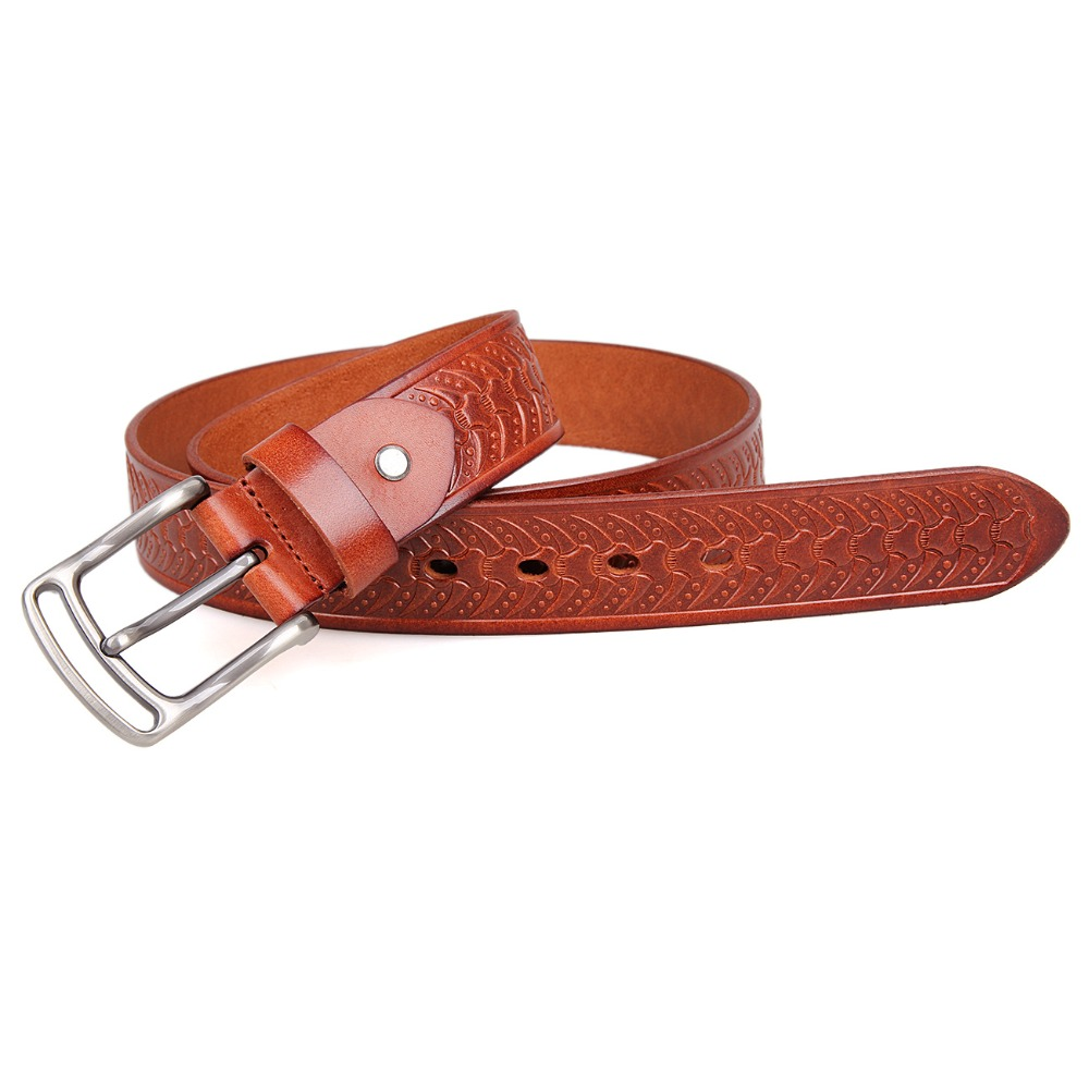 JMD Genuine Leather Men's Belt With High Quality Solid Copper Buckle Fashion Man Belt B015B-<strong>2</strong>