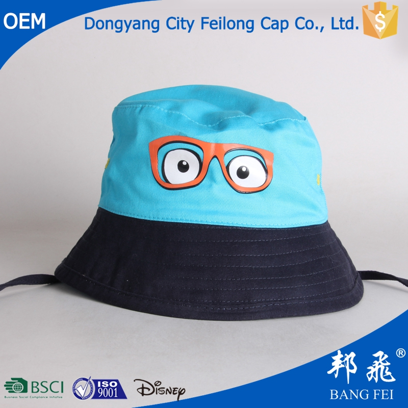 hot selling cartoon hat childrens reversible bucket hat