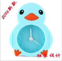 2016 Hot selling duck shaped Silicone duck shape alarm clock
