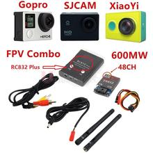 3U-80081 Fpv 5.8G 600Mw 48Ch Wireless Av A/V Transmitter Receiver Ts832+Rc832 Plus Tx & Rx Set For Rc Plane Helicopter Drones