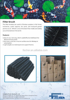 aquarium filter brush for KOI pond and fish farm