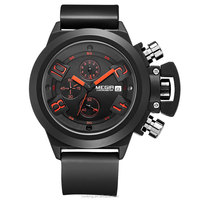 Megir Brand Men's Popular Watches Date Chronograph Sport Watch Men Guaranteed Military Watch Silicone Wristwatch Fashion Relogio