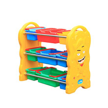 Children school plastic shelves useful CE plastic multi-functional toy shelf indoor plastic toy storage shelf toys