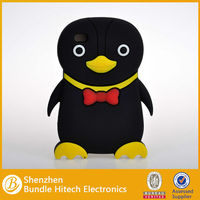 Newly Cute 3D penguin silicon case for ipod touch4 4th generation