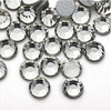 Wholesale Customized all color and size hot fix flatback glass rhinestone or Non hot fix rhinestone