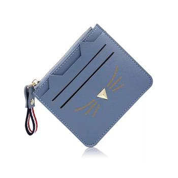Simple Fashion leather ID card wallet Cute pu card holder cat shape Christmas Gift card holder