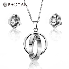 BAOYAN Discount Wholesale Cheap Manufacturer Stainless Steel Jewelry Set