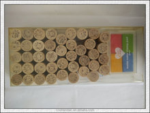 Wooden Rubber Stamp Round Shape, Teachers Comments