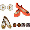 Monogram Enamel Shoes Clip For High