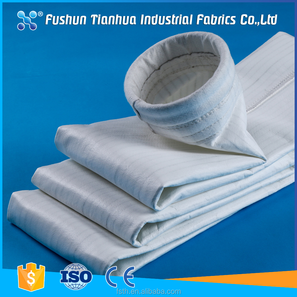 Anti static low cost high quality polyester media dust filter bag