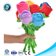 Alibaba best supplier new plush rainbow flower valentine gift soft stuffed plush red rose toy