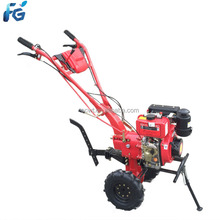 High quality professional portable hand operating type diesel engine mini tiller ploughing for cultivated land 173f