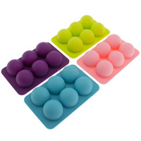 Handmade 6 Cavities Round Silicone Soap Molds
