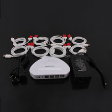 8 port anti theft alarm system for cell phone retail display provide security solutions