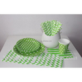Paper plates paper napkins and paper cup set for party