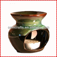 Antique custom glazed wholesale ceramic oil burner