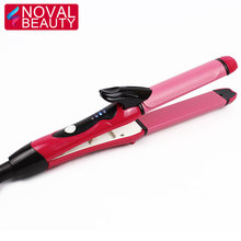 Amazon hot selling private label ceramic curling wand 2 in 1 Min Hair Straightener