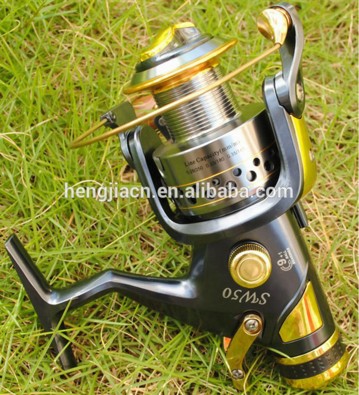Wholesale metal body fishing reels 9+1BB 5.2:1 long casting spinning reel big game line fishing reels
