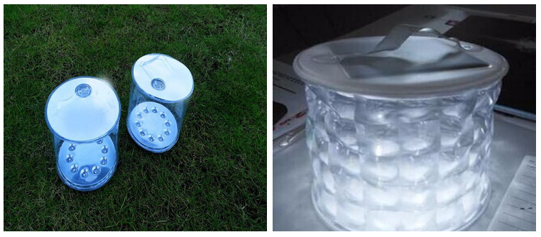 Customized Logo Portable Rechargeable Foldable Solar Light LED Inflatable Solar Powered Lantern