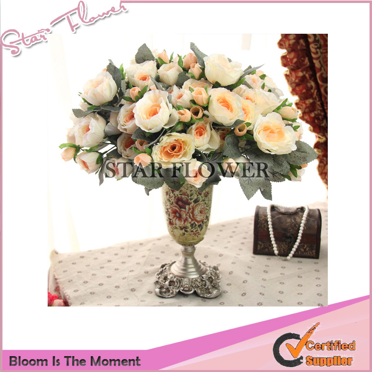 2017 New Product SF2017014 artifical roses table wedding decoration artificial flowers for grave arrangement
