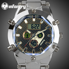 INFANTRY Aviator Pilot Men's MultiFunction Digital Quartz Wrist Watch