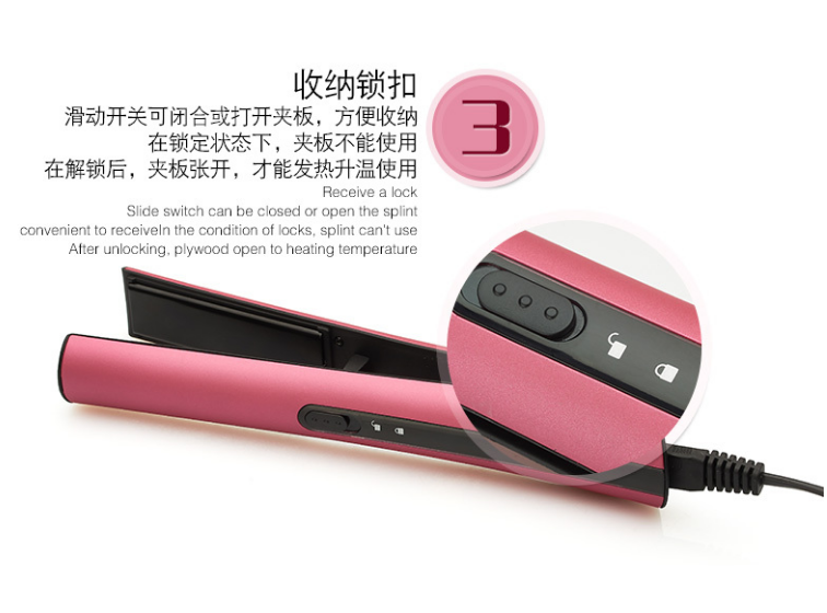 2017 New Design Steam automatic magic ceramic travel home cheap professional hair straightener portable mini cordless hair iron