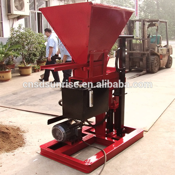 diesel/electric power cheap red soil brick making machine china supplier