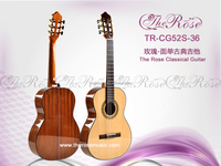 Hot-sell solid spruce & sapele mahogany neck rosewood fingerboard classical guitars