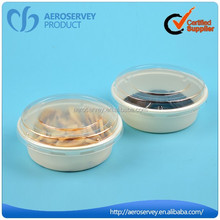 Top selling durable clear round plastic food container with lid