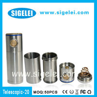 2013 Hot-selling brother e cig of TELESCOPE ZMAX V6-- Sigelei Telescope 20 full mechanical e cigarette