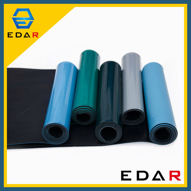 Factory price dust free anti static esd rubber mat