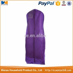 Custom nonwoven wedding dress bag/cover