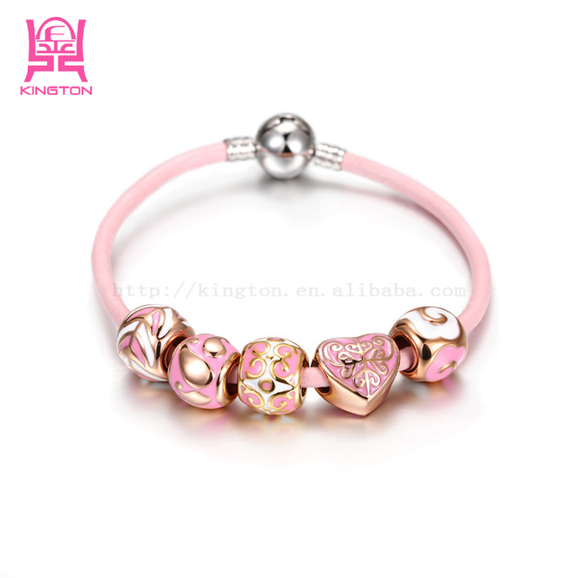 Factory price 316L stainless steel gold jewelry chain crystal bracelet BANGLE PULSERA