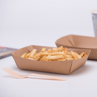 Hot Sale Disposable Kraft Paper Food