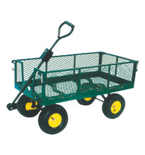 Four wheel OEM ODM carrying flower garden tool cart for sale