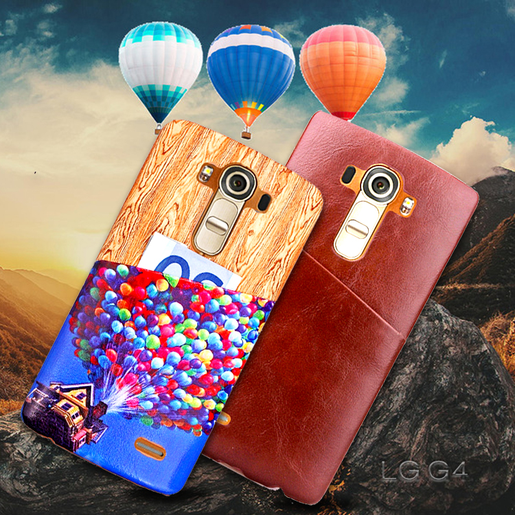 Wooden Pattern&Ballons Card Slots Back Case Cover for Samsung Galaxy S6